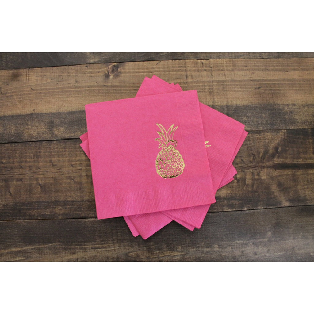 25  Pineapple Cocktail/Beverage Napkins FREE SHIPPING - Tulle and Twig