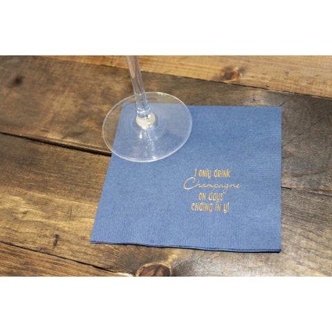 25  I only Drink Champagne on Days Ending in Y Cocktail Napkins FREE SHIPPING - Tulle and Twig