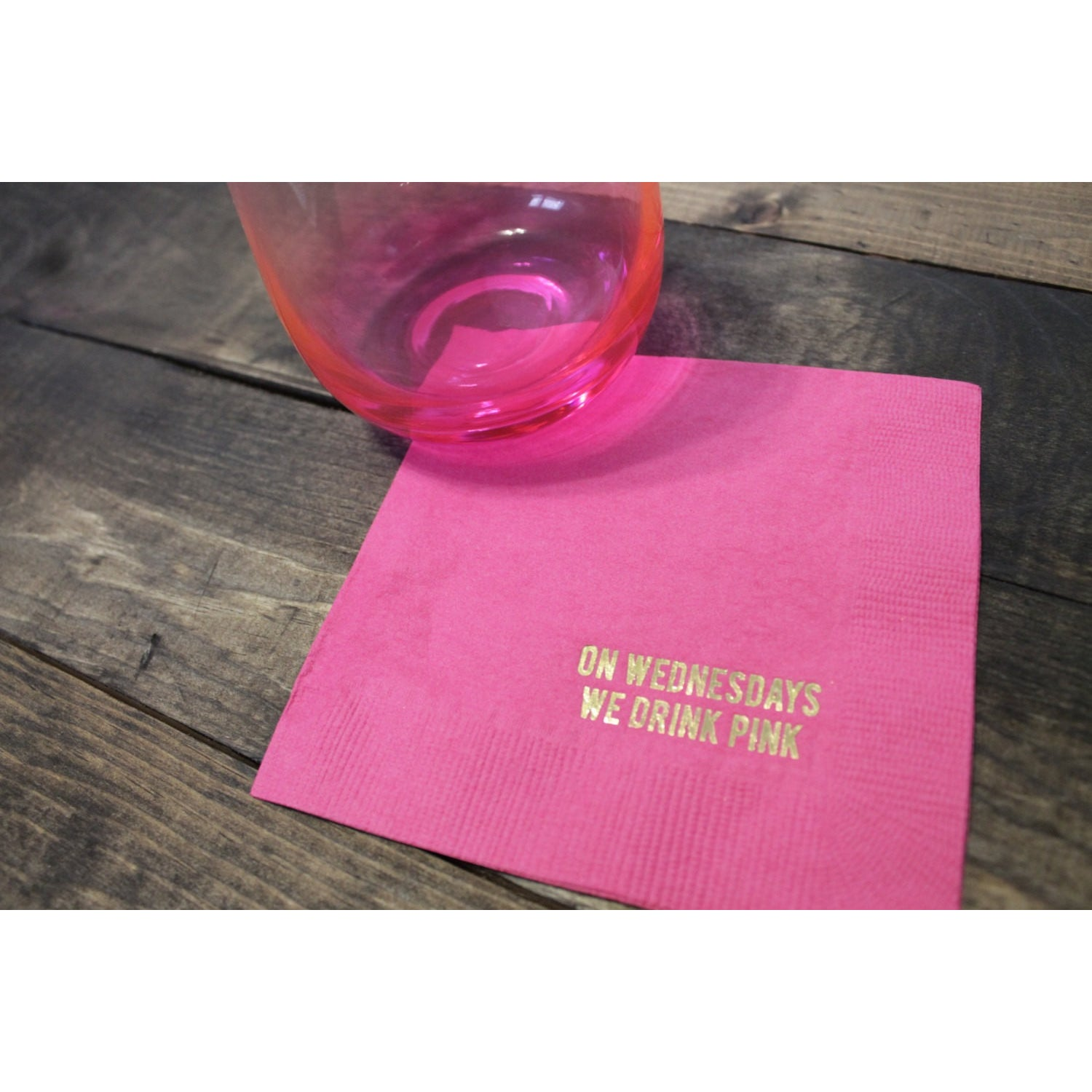 25 On Wednesday We Drink Pink Cocktail/Beverage Napkins FREE SHIPPING - Tulle and Twig