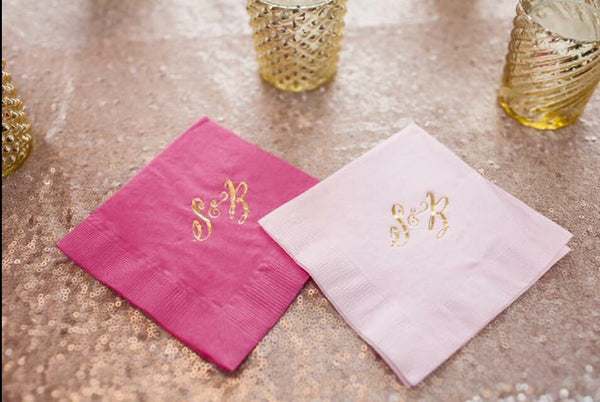 Fully Customizable Cocktail/Beverage Napkins - You Choose Your own Fonts and Designs! SHIPPING INCLUDED
