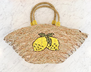 Lemon Straw Tote - Tulle and Twig