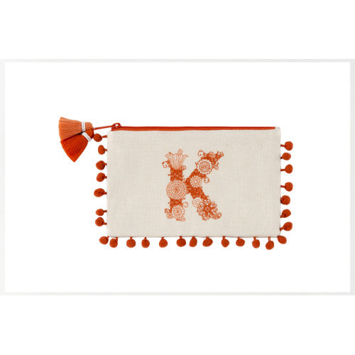 Monogram Zip Pouch - Tulle and Twig