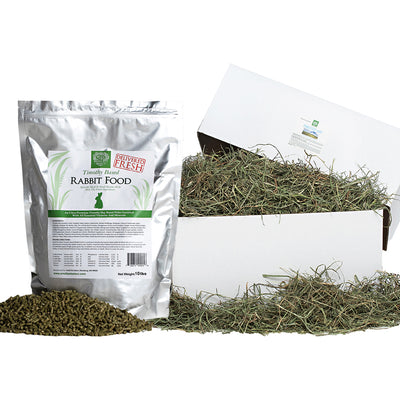 3rd Cut Timothy + Rabbit Food Pellets,bundles:Smallpetselect
