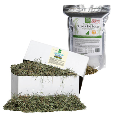 2nd Cut Timothy + Guinea Pig Food Pellets,Small Animal Food:Smallpetselect