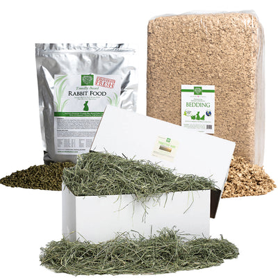 2nd Cut Timothy + Rabbit Food Pellets + Bedding,Bundles:Smallpetselect
