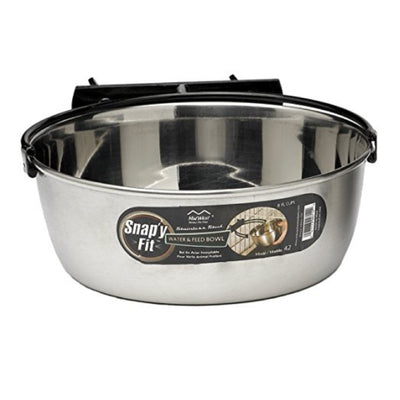 Stainless Steel Water Bowl, 2 qt (attaches to pen!)