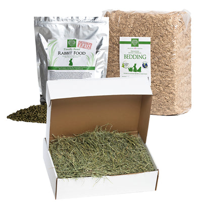 Orchard Hay + Food Pellets + Bedding, bundles:Smallpetselect