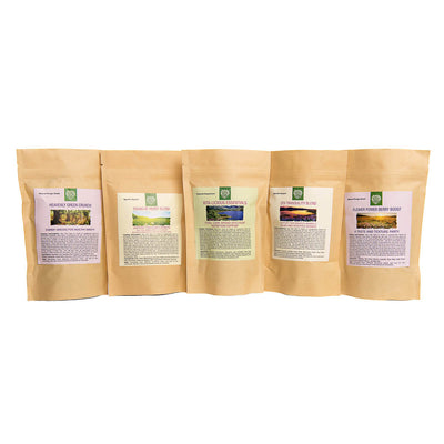 Herbal Sampler - all five herbal blends to try!, Small Animal Food:Smallpetselect