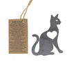 Cat and Heart Ornament - recycled metals, Holiday Items:Smallpetselect