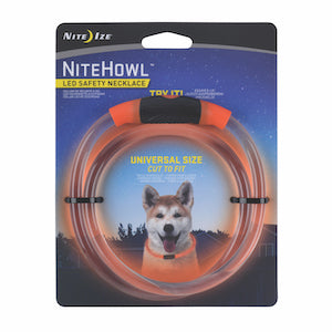NiteHowl LED Safety Necklace, battery version (Red), dog collars and leashes:Smallpetselect