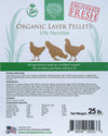 Organic Chicken Layer Pellets, 17% Protein with Corn