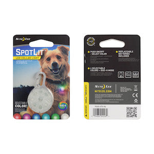 Spotlit LED Safety Carabiner Tag, dog collars and leashes:Smallpetselect