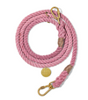 Cotton Rope adjustable leash - Blush, the perfect pink, dog collars and leashes:Smallpetselect