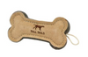 Leather and Wool Bone, dog toy:Smallpetselect