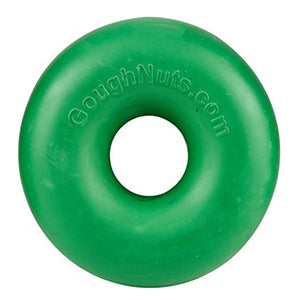 Goughnut Original Chew Ring, 2 sizes, green, dog toy:Smallpetselect