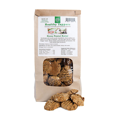 Healthy Yappers, Honey Peanut Butter - human-grade, and hand-made!, dog treats and chews:Smallpetselect