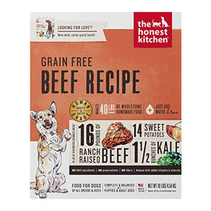 Honest Kitchen Grain-Free Beef (Love) - Human-grade dehydrated food, dog food:Smallpetselect