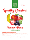 Healthy Snackers Summer Picnic Mini-Cookies (2oz), Healthy snacks:Smallpetselect