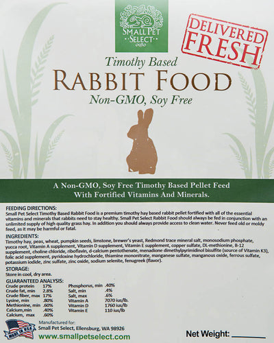 Non-GMO, Soy-Free Rabbit Food Pellets