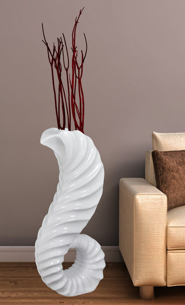 for piece size white ideal contemporary tall ideas with pattern floor vase design leaves brown living vases decorative also classic room and