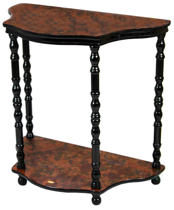 2-Tier Entryway Console Table with Espresso Marble Finish