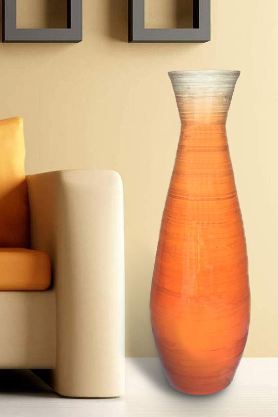 Tall Bamboo Floor Vases