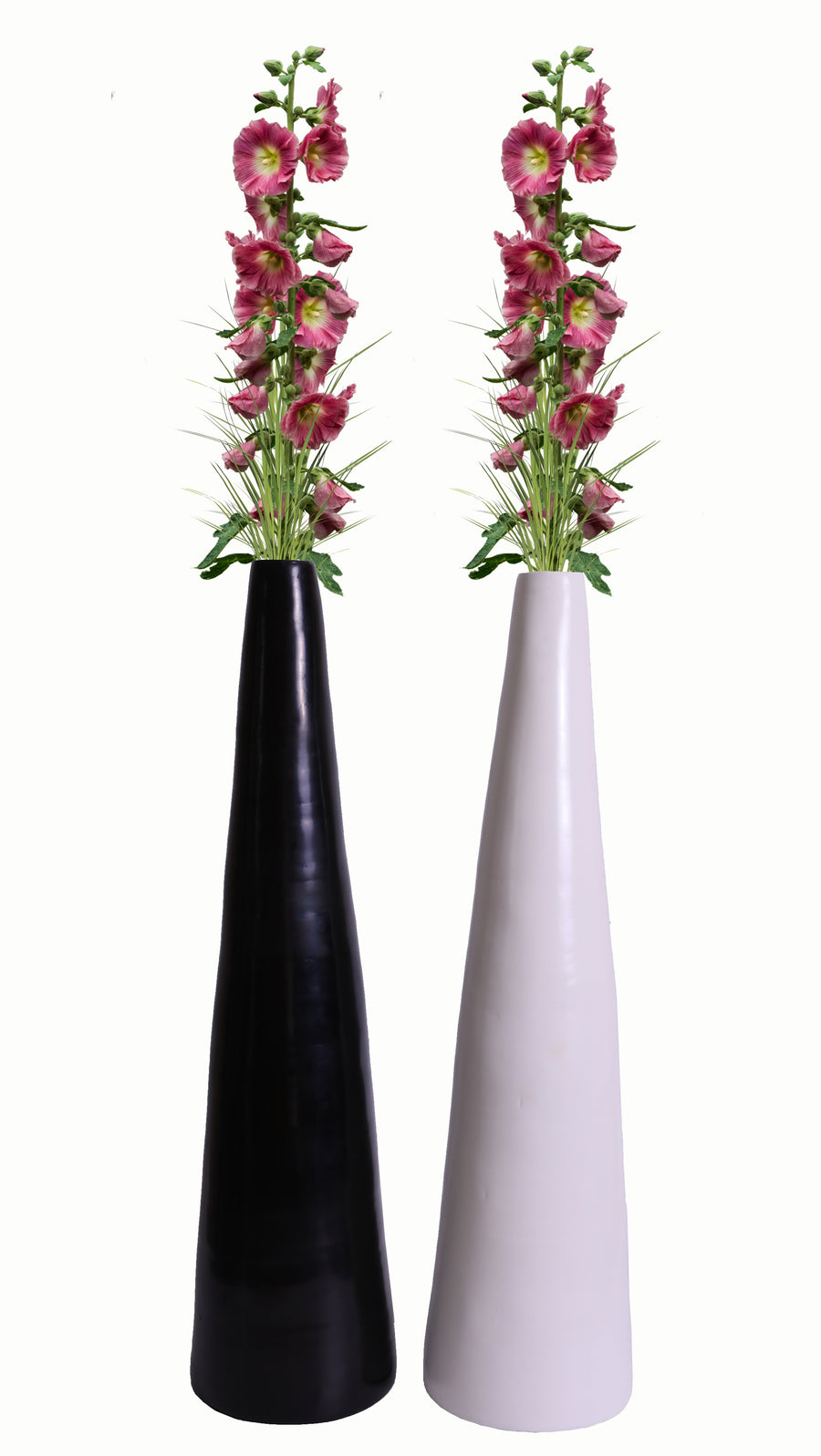 30 in. Spun Bamboo Contemporary Tall Floor Vase