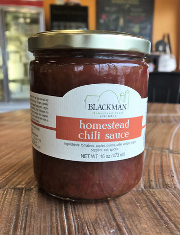 Blackman Farm Homestead Chili Sauce -16 oz