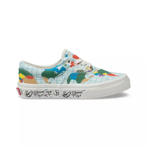 VANS Save Our Planet Kids | Classic White/Multi (VN0A38H8T2V)