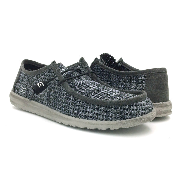 HEY DUDE Wally Sox Perforated Men | Black / Grey (111794914)