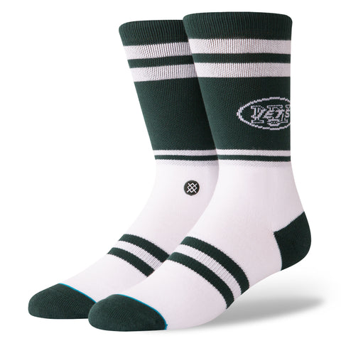 STANCE Jets Logo Socks Men | Green (M558C18JES) (Large)