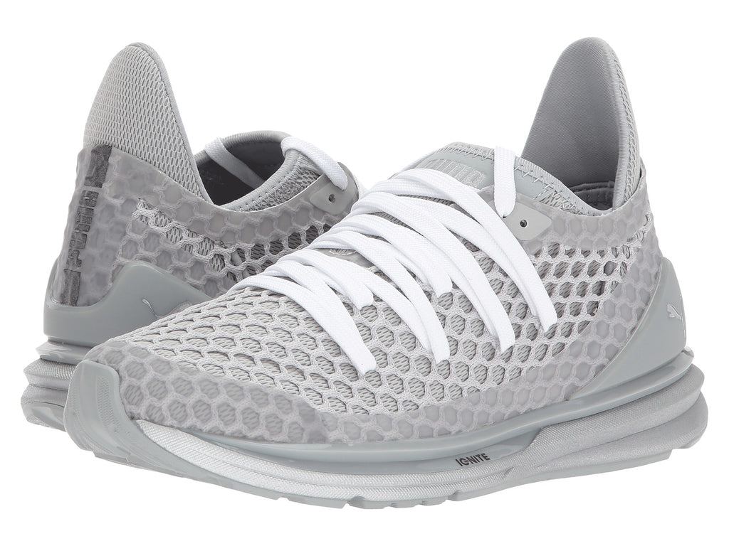 Puma Ignite Limitless Netfit Nightcat Women's Sneaker Shoes Grey 189985-02
