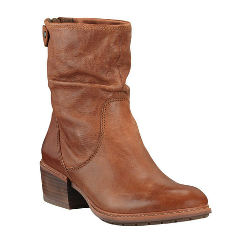 TIMBERLAND Sutherlin Bay Mid Back Zip Slouch Women | Medium Brown Full Grain (A1SDEK43)