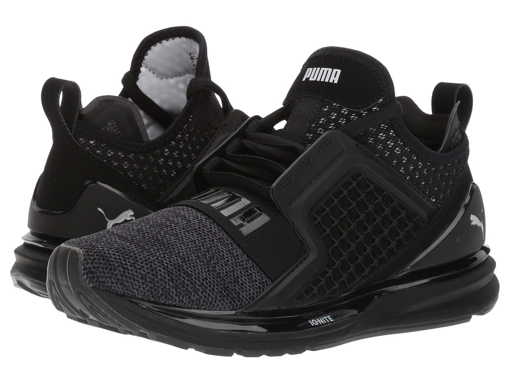 Puma Ignite Limitless Knit Kids Sneaker Shoes Black 190064-02