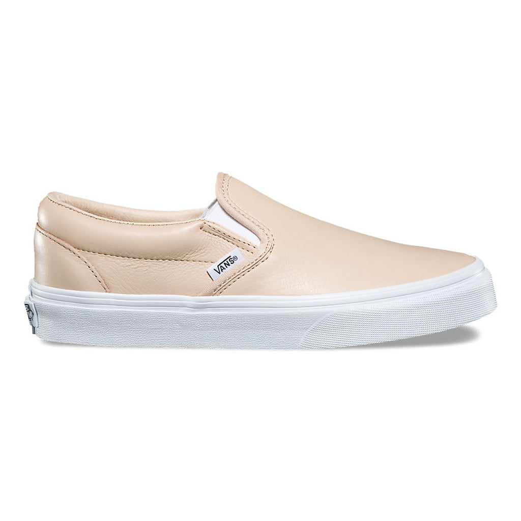 VANS Leather Classic Slip-On Women | Frappe / True White (8F7QD3)