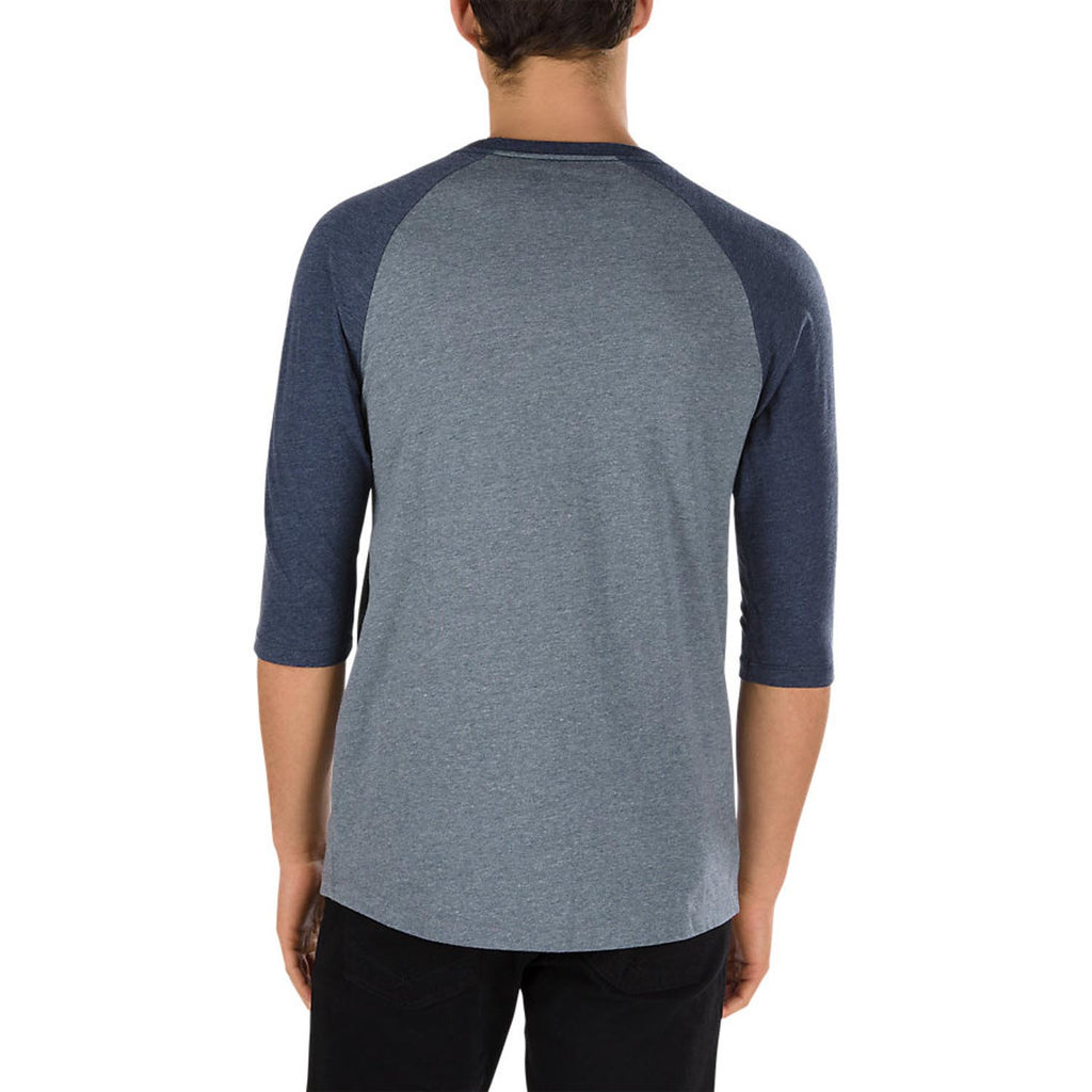 VANS Bear Patch Baseball Tee Men | Heather Grey/Heather Navy (13JLTQ)