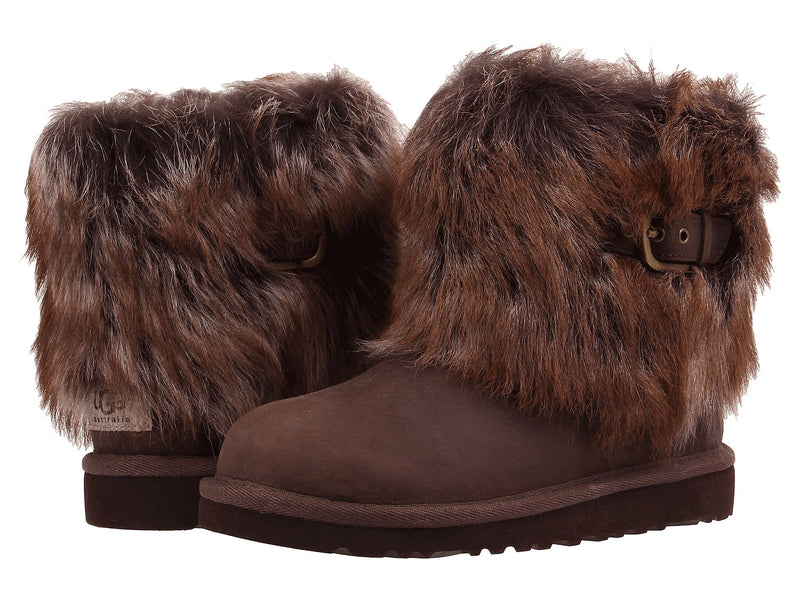 UGG Leather Ellee Kids | Chocolate (1008178K)