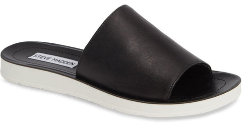 Steve Madden Porter Black Leather Women | Black