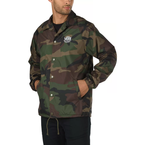 VANS Torrey Coaches Jacket Men | Oversized Woodland Camo (VN0002MUCMA)