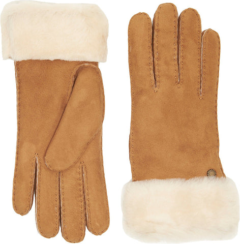 UGG Classic Turn Cuff Sheepskin Gloves Women | Chestnut (16129)