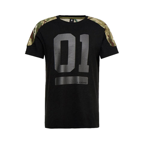G-STAR Graphic 17 Loose Round T-shirt Men | Dark Black (D12872)