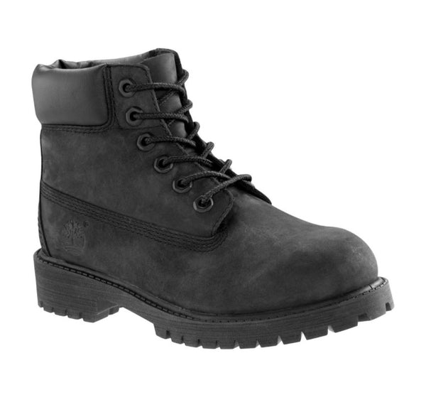 TIMBERLAND 6-inch Premium Youth/Kids | Black Nubuck (12907)