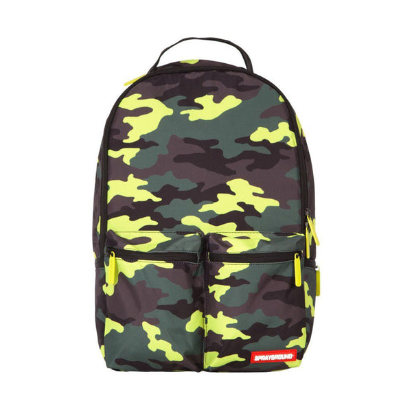 SPRAYGROUND Neon Camo Cargo Backpack | Green (9100B923NSZ)