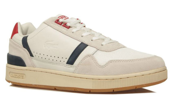 LACOSTE T-Clip 120 2 Women | Off White/Navy/Red (7-39SFA00758R1)