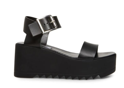 STEVE MADDEN Lake Women | Black Leather