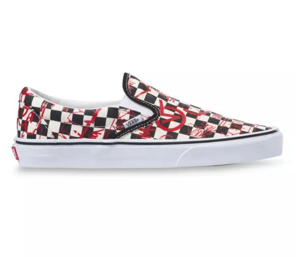 VANS Crew Classic Slip On Men | CheckerBoard/Red (VN0A4BV31IW)