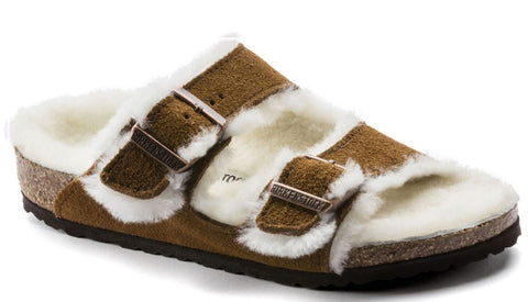 BIRKENSTOCK Arizona Shearling Narrow Kid | Mink (1017792)