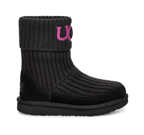 UGG Knit Kids | Black (1103609K)