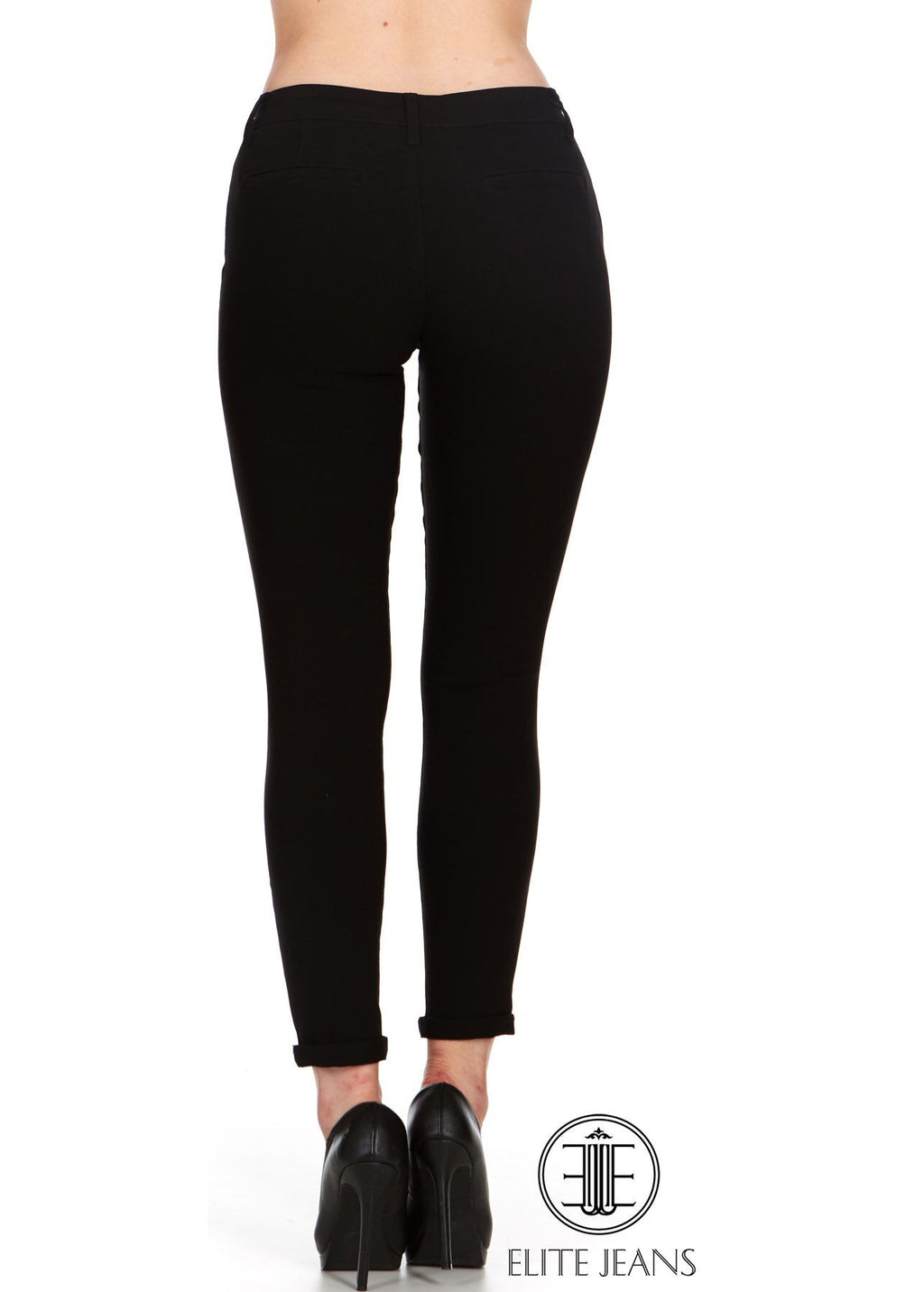 ELITE JEANS Trouser Active Stretch Skinny Jeans Women | Black (P19006-01)