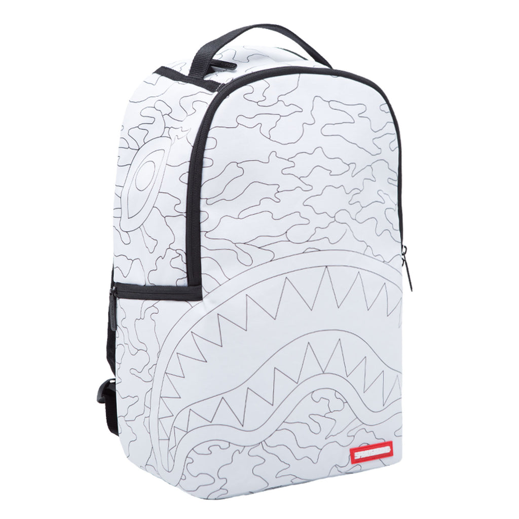 SPRAYGROUND DIY Shark Backpack | White (910B1200NSZ)